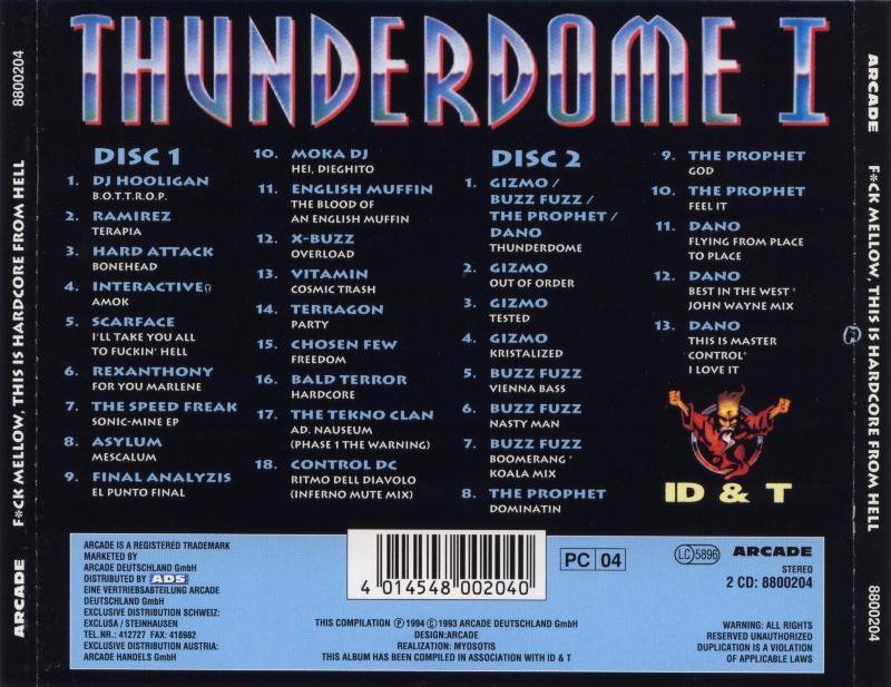 Страна: Германия Исполнитель: VA Название: Thunderdome I - F*ck Mellow, Thi